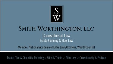 Smith Worthington, Counselor at Law: Branding, Identity, Business Card, Stationery, Signage
