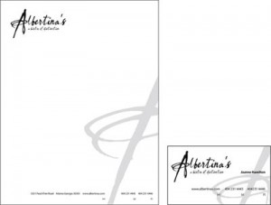 Albertina's: A Bistro of Distinction: Stationery System