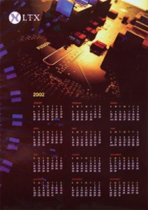 LTX Corporation: Corporate Calendar, Art Direction